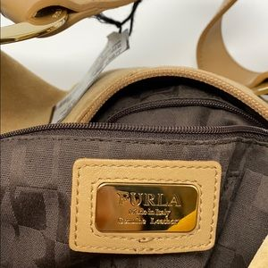 Furla Bags - Furla Suede and Leather Hobo Bag in Camel